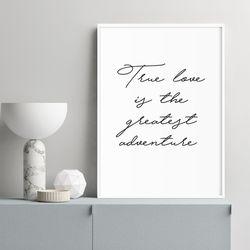 True Love 타이포 인테리어 액자 A3 포스터