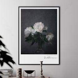 서블라임 모란 꽃 그림 액자 A3 포스터