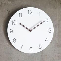 무소음 월넛 숫자 벽시계 (전체당일발송)