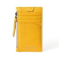 [코앤크릿]시그니쳐 슬림 지퍼 카드지갑 옐로우