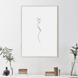 뒷모습 드로잉 액자 그림 A3 포스터