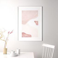 핑크레이어 추상화 인테리어 그림 A3 포스터