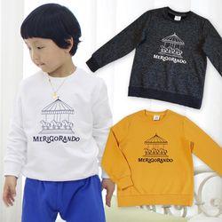 KIDS 회전목마 로고 긴팔티셔츠 3컬러중 택1아동복맨투맨