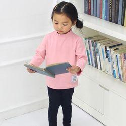 KIDS 꼬부리넥 골지 긴팔티셔츠 핑크아동복긴팔어린이키즈