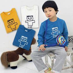 KIDS ME 남아라운드넥 긴팔티셔츠 3컬러중 택1아동복맨투맨