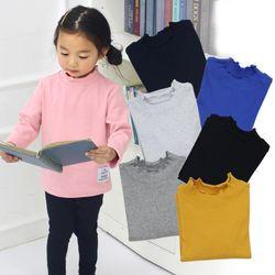 KIDS 꼬불넥 골지긴팔티셔츠 8컬러중 택1아동복긴팔어린이키즈