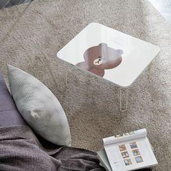 라인프렌즈 테이블 600 접이식 공부상 밥상 노트북책상