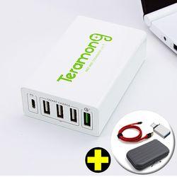테라몽 USB PD 퀵차지3.0 5포트 고속멀티충전기