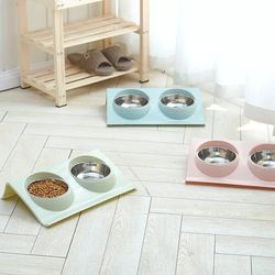 고양이 심플 밥그릇 식기