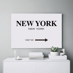 1837MI 뉴욕 액자 레터링 A3 포스터