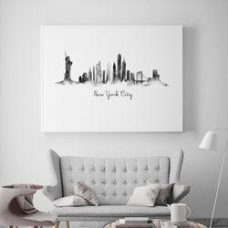 수채화 뉴욕 액자 인테리어 A3 포스터
