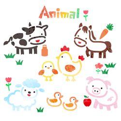 스텐실시트지-동물