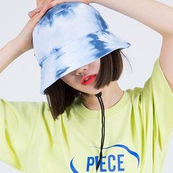 TIE-DYE STRING BUCKET HAT (NAVY)