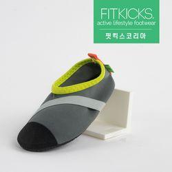 키즈 슬립온 클래식 신발 그레이