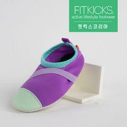 키즈 슬립온 클래식 신발 퍼플