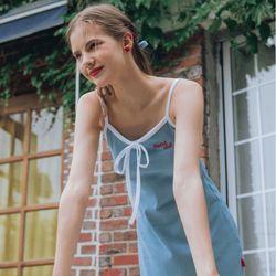 [김유정착용] Heart Ribbon Sleeveless Dress