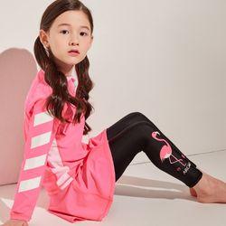 키즈 토피노(핑크) 9부 스커트레깅스 세트