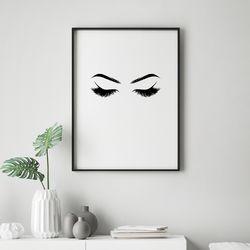 속눈썹 패션 그림 인테리어 액자 A3 포스터