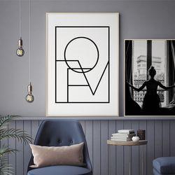 러브스퀘어 글귀 액자 레터링 A3 포스터