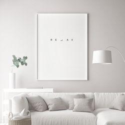 릴렉스 글귀 액자 레터링 A3 포스터