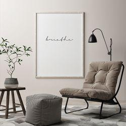 브레스 글귀 액자 레터링 A3 포스터