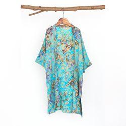 [Kids Robe] Vintage garden - Pastel Blue