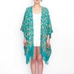 [Fringe Robe] Dahlia - Turquoise
