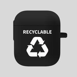 [Airpods] 재활용 화이트-블랙 에어팟 케이스