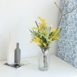 미모사 그린 믹스 꽃다발