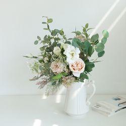 장미 리시안셔스 믹스 꽃다발