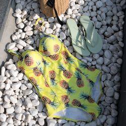 모노키니 비치웨어 여성 휴양지 여름 원피스 수영복 (2color)