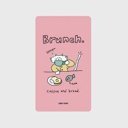 Brunch cat-pink(보조배터리)