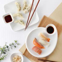 트윈 서빙플레이트(2style) 만두 초밥 회 접시
