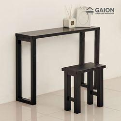 루나 1200 원목 장식 테이블 의자 세트