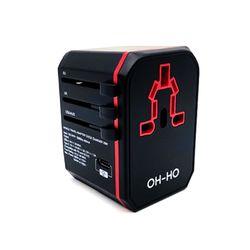 오호 YM108 여행용 어댑터 QC3.0 PD 고속충전 USB 2포트 C타입