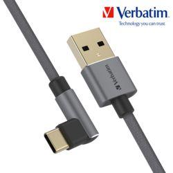 버바팀 USB-C to A 2.0 앵글 게이밍 직각 케이블 120c