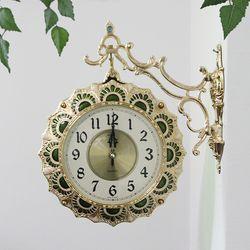 전통 기와 금도금 양면시계 SUN-286