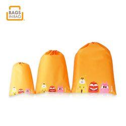 라바 캐릭터 스트링 여행용품 수납가방 파우치 3종