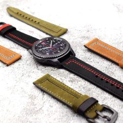갤럭시워치46mm 기어S3 스타일 가죽 밴드 시계줄 22mm