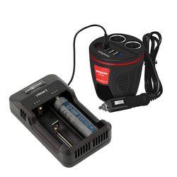 VCC-509Q 차량용 충전기+안스만 18650 배터리 충전기 SET
