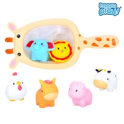 동물친구 목욕놀이 아기 물놀이 뜰채 물총 장난감