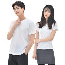 라인핏 화이트 기본 티셔츠남자 여자 교복 생활복 반티