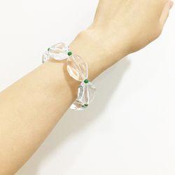 [원사이드귀걸이증정/무료배송] CLEAR GLASS BANGLE 투명 아크릴 패션뱅글
