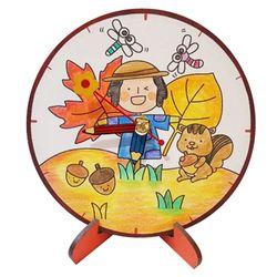 가을 허수아비 탁상시계