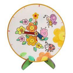 봄 꽃과나비 탁상시계