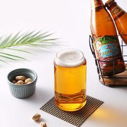 티도요 비어캔 내열 유리컵(350ml)