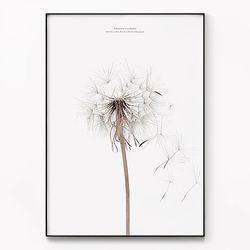 대형 메탈 식물 꽃 감성 인테리어 그림 액자 민들레