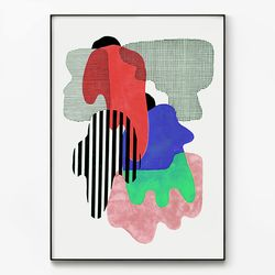 대형 메탈 추상화 모던 아트 패턴 그림 포스터 액자 구성 A