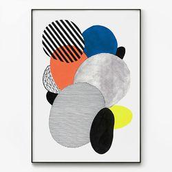 대형 메탈 추상화 그림 모던 아트 패턴 포스터 액자 구성 B