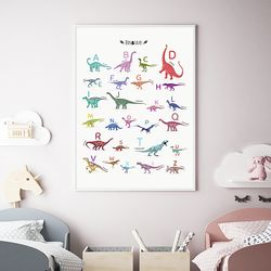 알파벳 공룡 아이방 액자 인테리어 A3 포스터